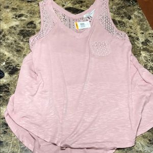 NWT American Rag tank with lace detail